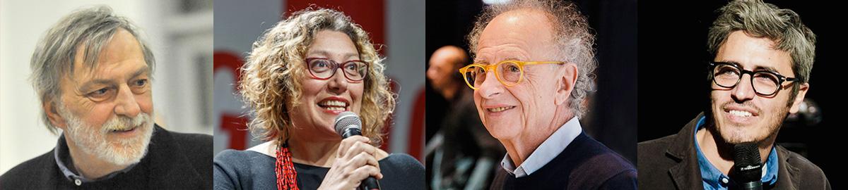 Gino Strada, fondatore di Emergency, Rossella Miccio, presidente di Emergency, Gherardo Colombo e PIF